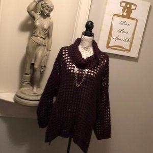 💋| Lane Bryant |💋 Overlay Oversized Sweater